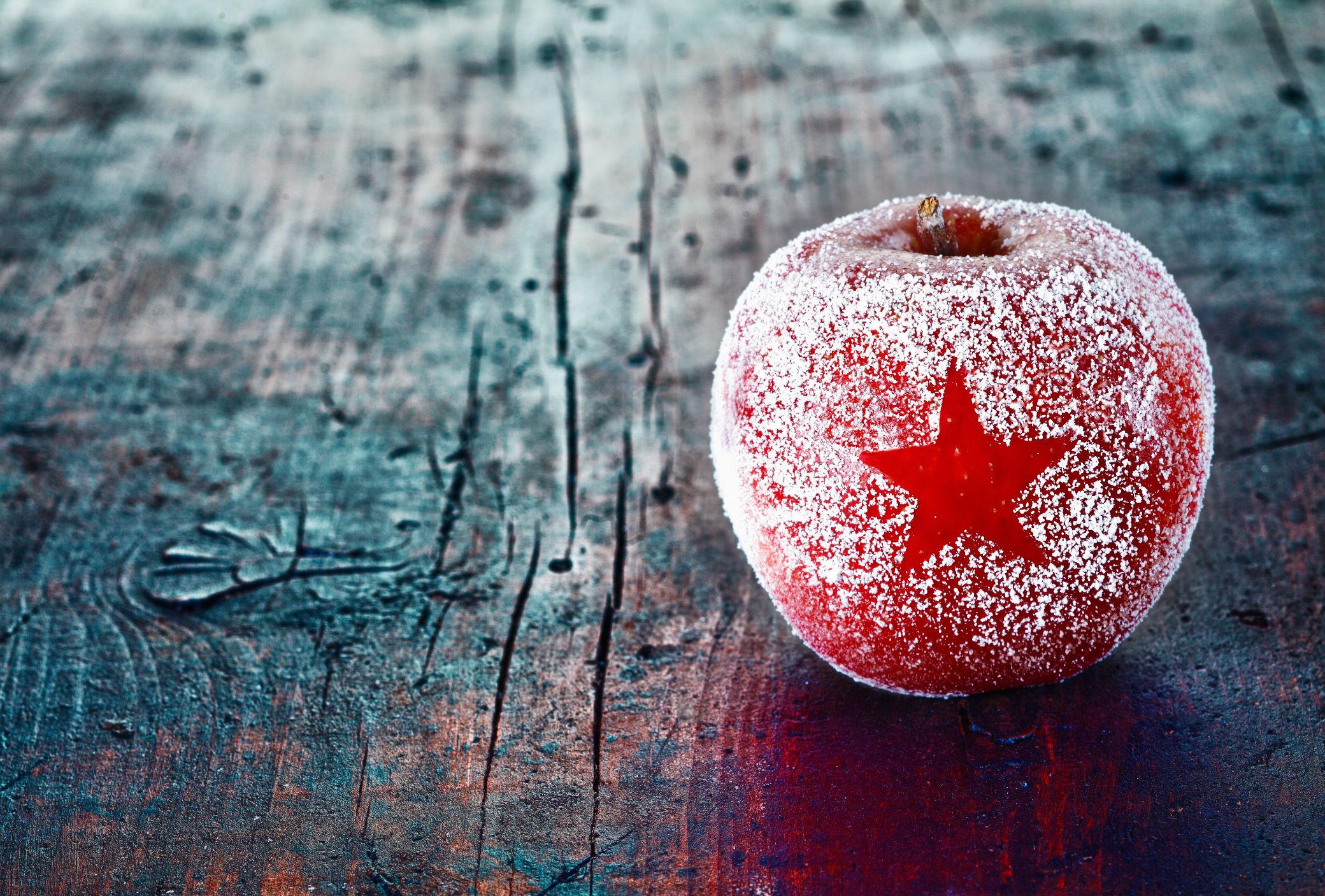 Come creare l'effetto brina sui fiori e frutta per le decorazioni di Natale