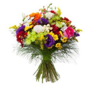 Bouquet di fiori misti e Mimosa