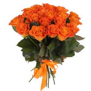Mazzo di rose arancio