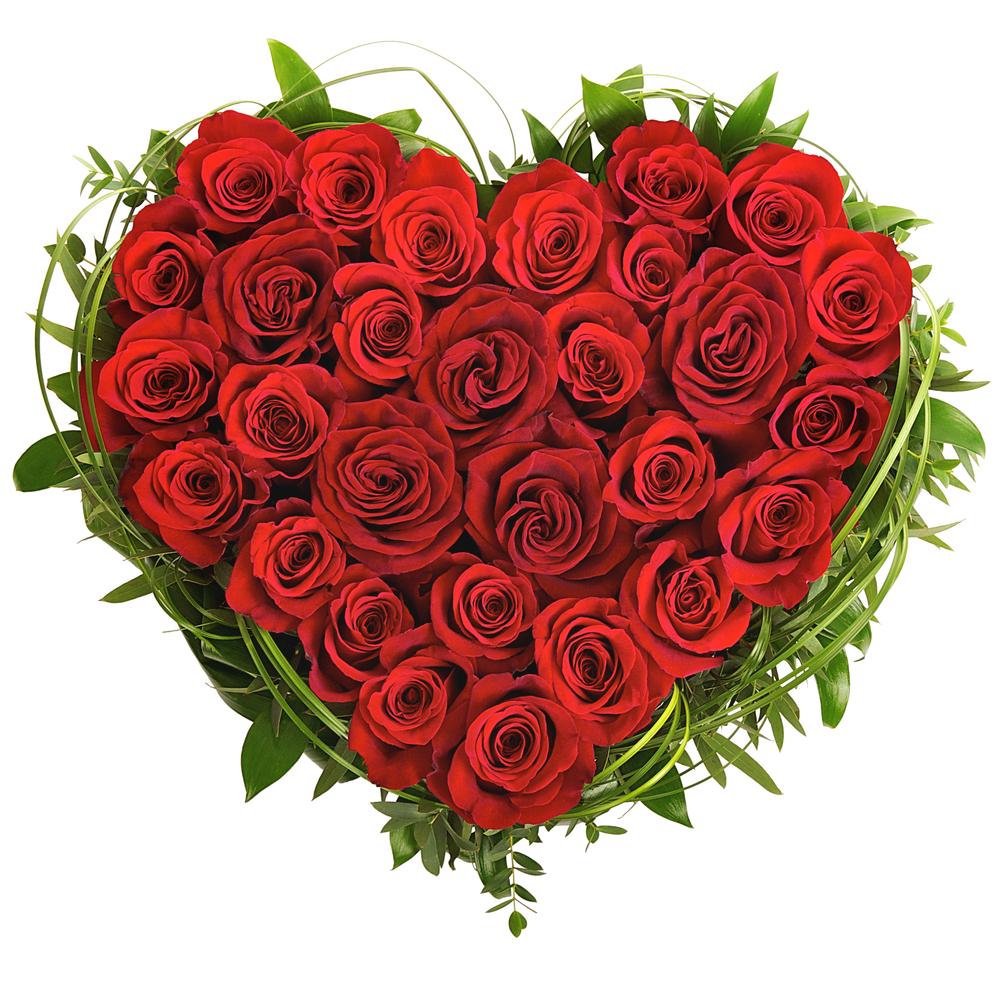 Mazzo Di Fiori A Forma Di Cuore.Composizione A Forma Di Cuore Composta Da Rose Rosse Fioristaonline
